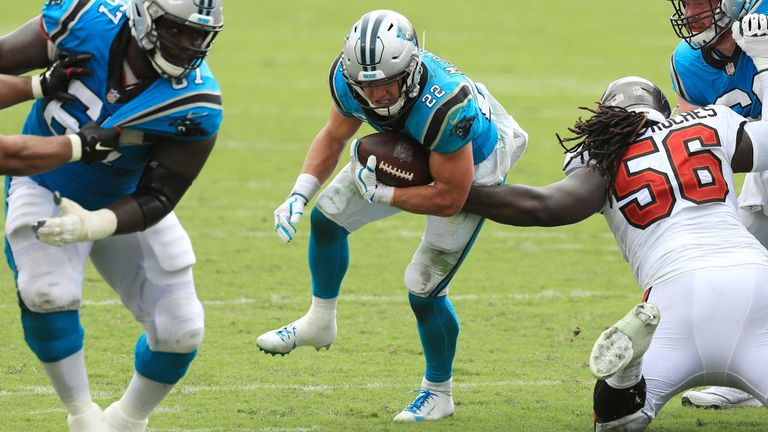 McCaffrey was injured during the Panthers' defeat to the Buccaneers on Sunday