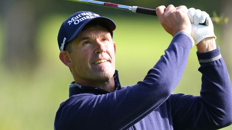 Padraig Harrington bogeyed the last and looks likely to miss the cut by one