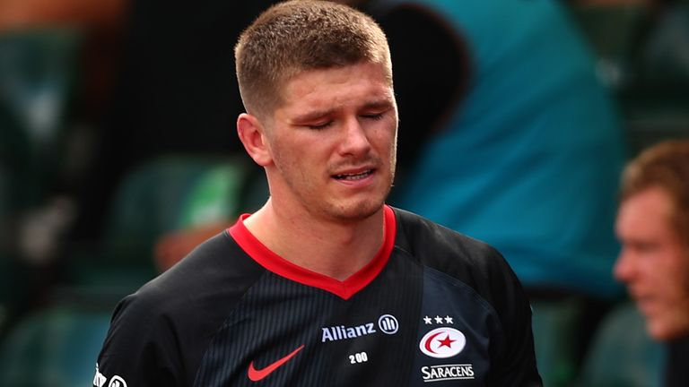 Owen Farrell is facing a ban after his red card against Wasps