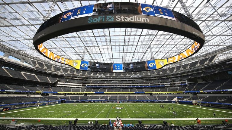 A look at the brand-spanking new home for the Rams and the Chargers, the SoFi Stadium in Los Angeles