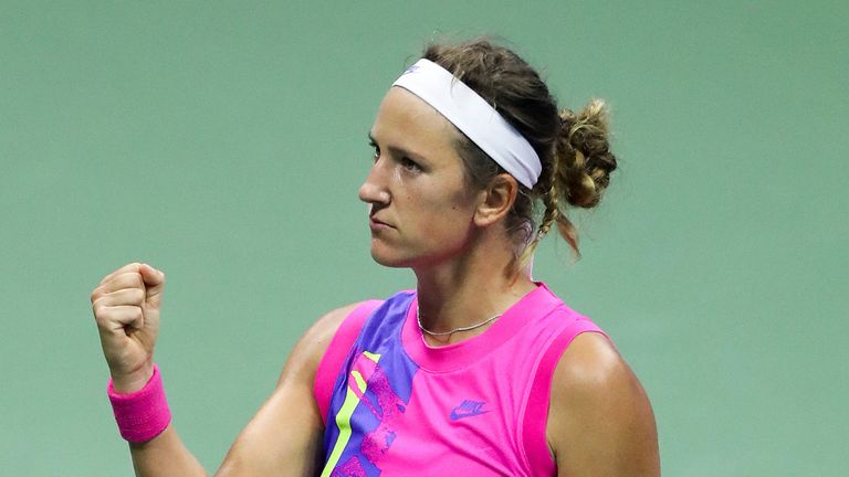 Azarenka returned to her first major final for the first time since 2013