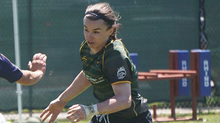 Grace McKenzie from Golden Gate Women RFC, San Francisco, is a transgender player who has started a worldwide petition against the ban (pic courtesy of The Rugby Breakdown)