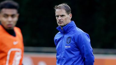 Frank de Boer begins his tenure as Netherlands head coach on Wednesday