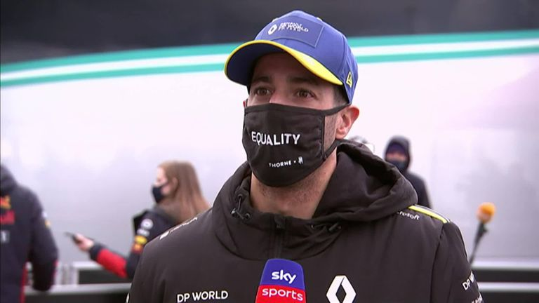 Plenty of emotion for Daniel Ricciardo as he finally realised that podium return dream in a first since moving to Renault last year