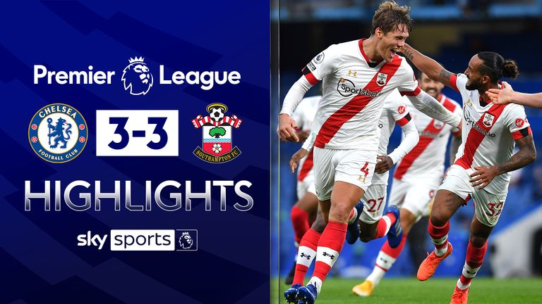 FREE TO WATCH: Highlights from Chelsea's draw with Southampton in the Premier League