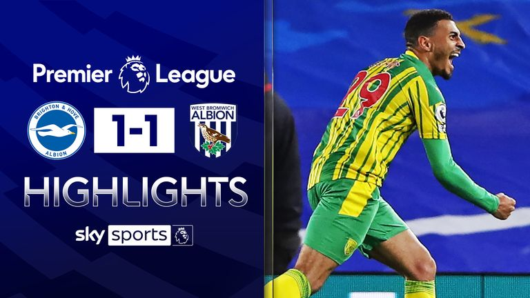 FREE TO WATCH: Highlights from the 1-1 draw between Brighton and West Bromwich Albion in the Premier League