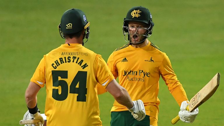 Ben Duckett and Dan Christian led Notts Outlaws to the Vitality Blast title to bring down the curtain on the 2020 season