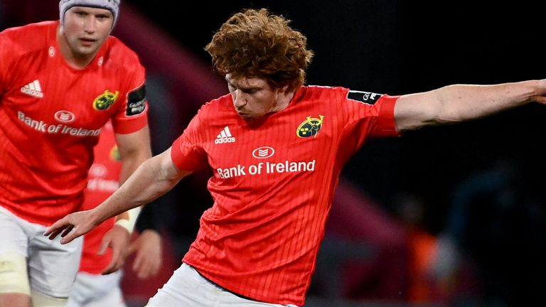 Ben Healy kicked seven from eight off the tee, as Munster beat Edinburgh late on at Thomond Park