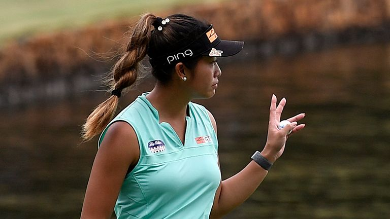 Bianca Pagdanganan birdied the last two holes of day three