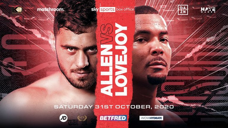 Dave Allen will aim to end the unbeaten record of Christopher Lovejoy on October 31 (Picture courtesy of Matchroom Boxing)