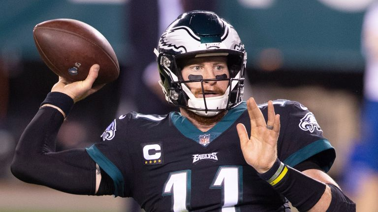Carson Wentz has endured a gruelling start to the 2020 season behind a depleted offensive line