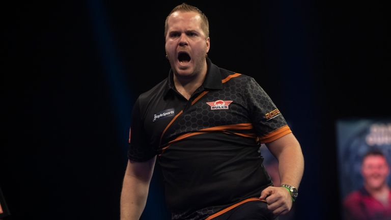 Dirk van Duijvenbode defeated four major champions to reach the final of October's World Grand Prix on debut