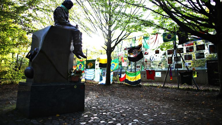 The Ayrton Senna tribute is situated close to the Imola circuit