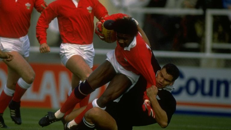Glenn Webbe, pictured in action for Wales against New Zealand in 1988