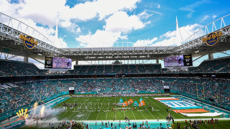 Dolphins have been allowing 13,000 fans at the 65,000-seater Hard Rock Stadium