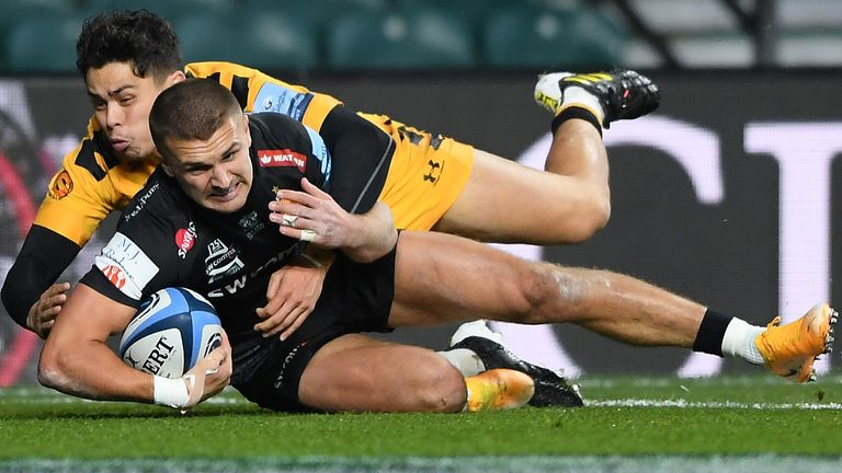 Henry Slade scored Exeter's only try in a tightly contested final