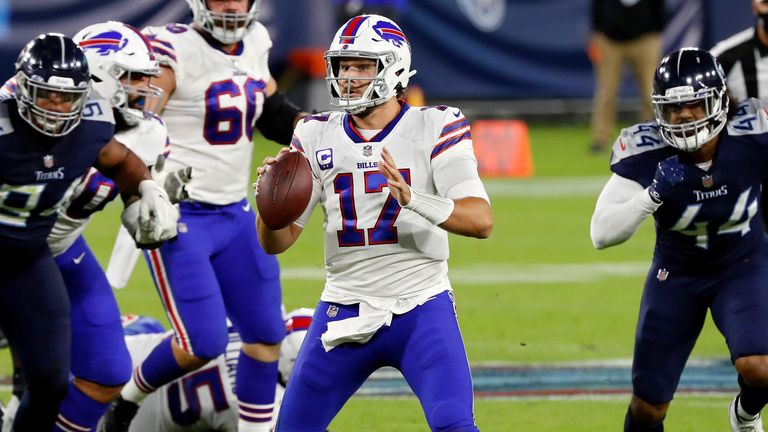 Josh Allen threw two interceptions to go with two touchdowns as Buffalo's winning start to the season came to an end