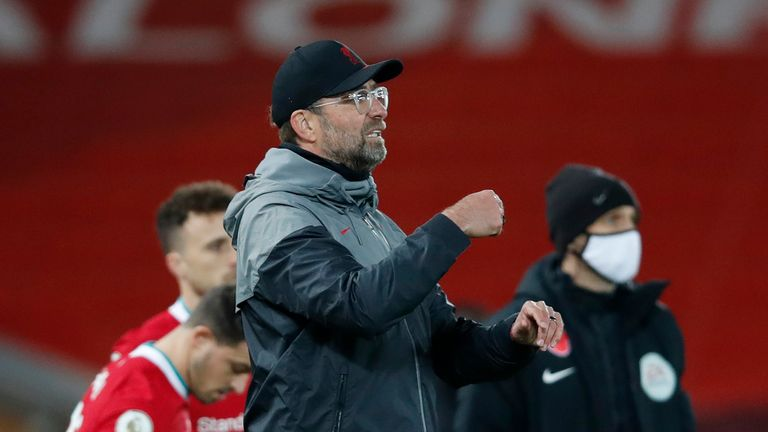 Liverpool boss Jurgen Klopp says he is happy the Premier League can continue during the second lockdown