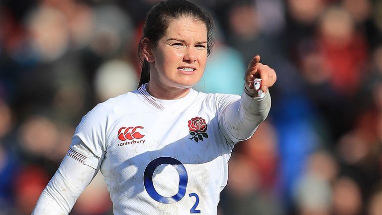 England Women scrum-half Leanne Riley
