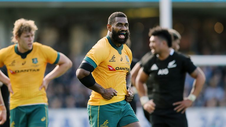 Marika Koroibete scored the only try for the Wallabies