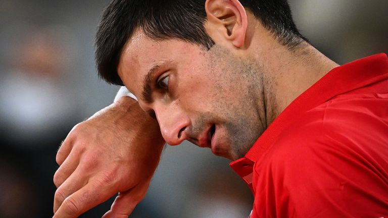 Djokovic was unable to add to his tally of 17 Grand Slams