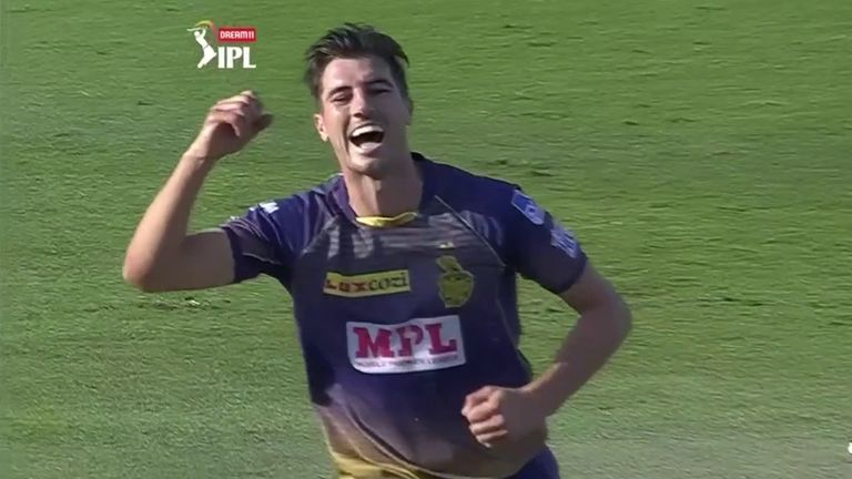 Pat Cummins' two early wickets put KKR in a strong position