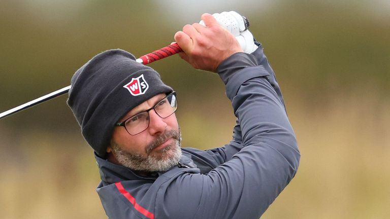 Waring produced a contender for shot of the day during the opening round on the Scottish coast