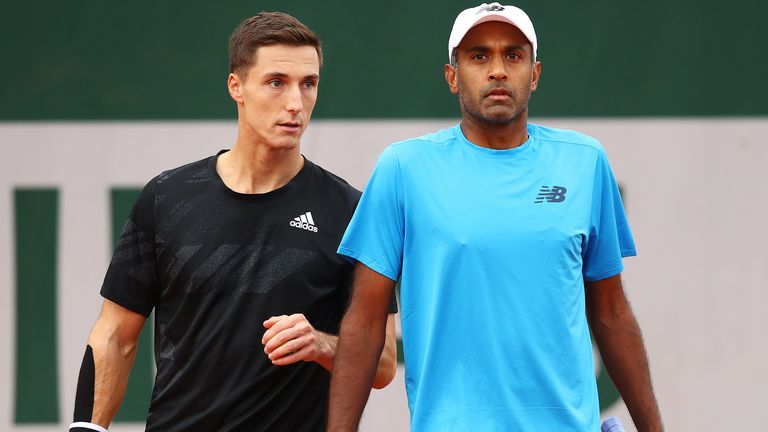 Salisbury (left) and Ram have already secured their place at the season-ending ATP Finals in London