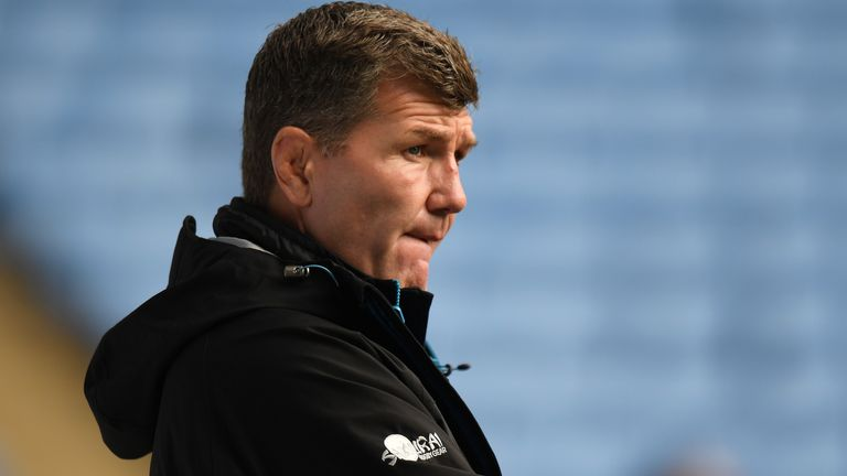 Rob Baxter's Exeter have a record of eight wins, six losses and a draw against Wasps over the last six seasons