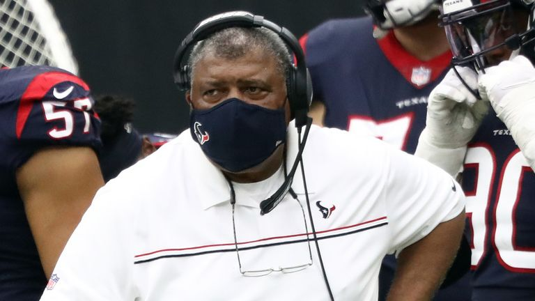 Romeo Crennel became the oldest head coach in NFL history on Sunday as he steered the Texans to their first win of the season