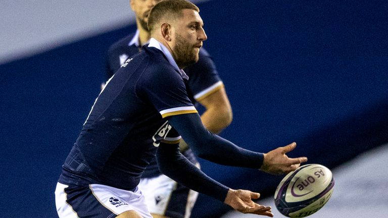 Finn Russell created a try for Duhan van der Merwe after coming off the bench