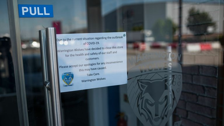 Warrington were forced to closed their club shop at the height of the pandemic earlier this year