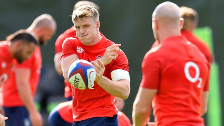 The England squad are at their training base in Teddington preparing for Sunday's game