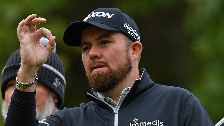 Shane Lowry slipped four shots off the lead after a scrappy 74