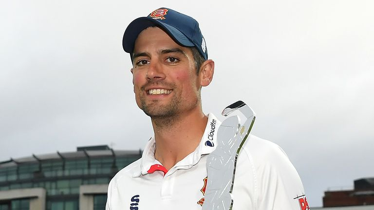 Sir Alastair Cook was the leading red-ball run-scorer in the country in 2020