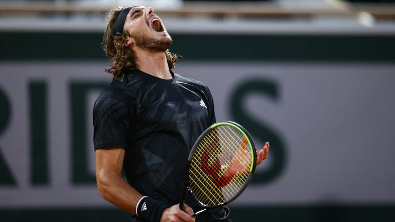 Tsitsipas battled back from two sets down before eventually falling to defeat