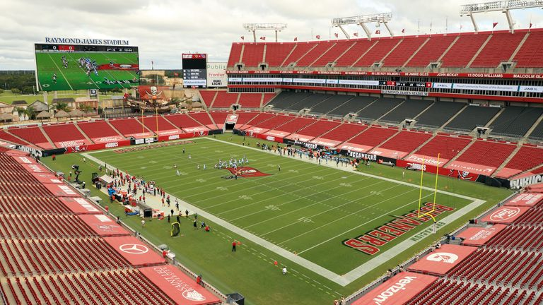 The Tampa Bay Buccaneers' Raymond James Stadium is set to hold Super Bowl LV