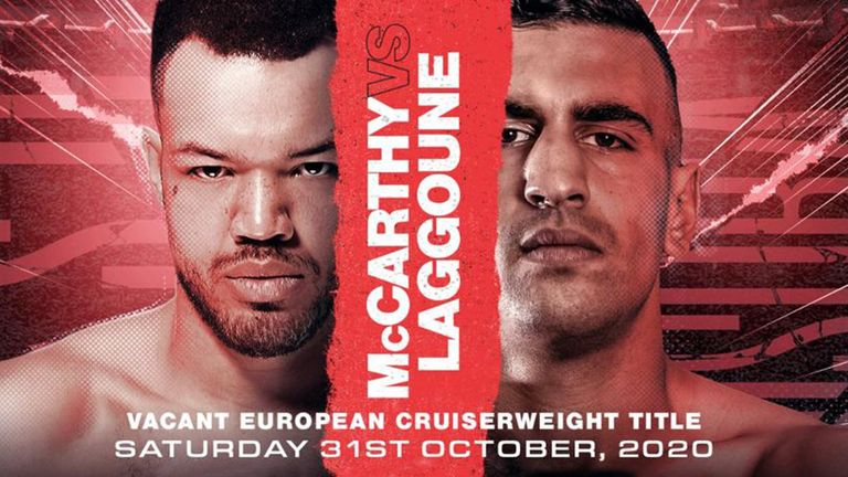 Tommy McCarthy faces Bilal Laggoune on October 31, live on Sky Sports Box Office