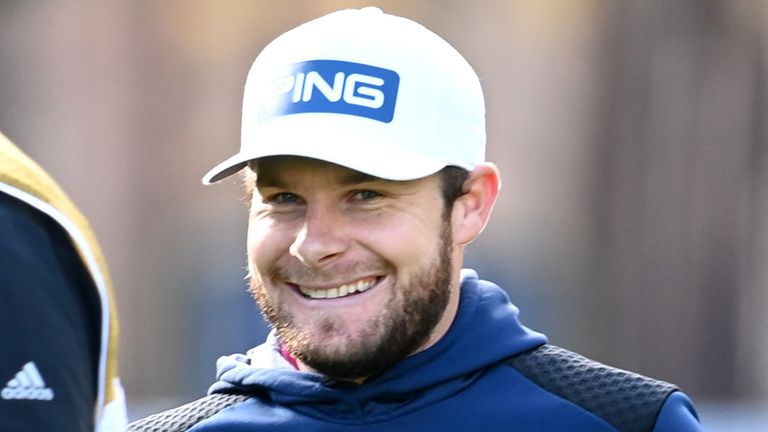 Tyrrell Hatton celebrated a four-shot win at Wentworth