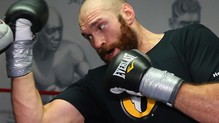 Tyson Fury is preparing for a world heavyweight title fight in Britain