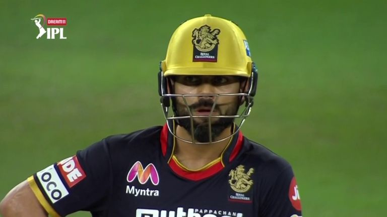 Kohli helped RCB tonk 74 from their final five overs