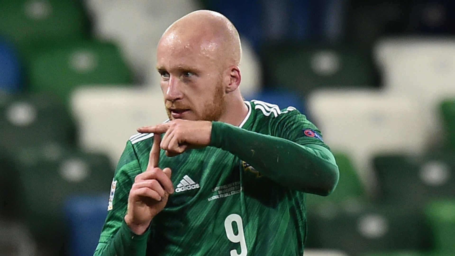 Relegated Northern Ireland held by Romania