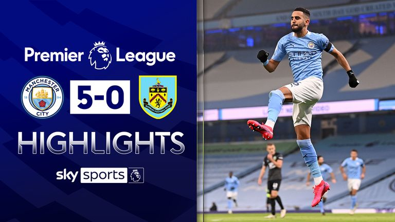 FREE TO WATCH: Highlights from Manchester City's win over Burnley in the Premier League