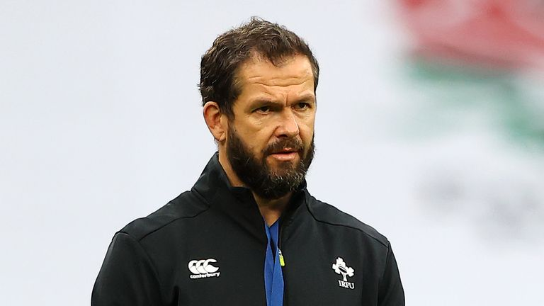 Ireland rugby union head coach Andy Farrell