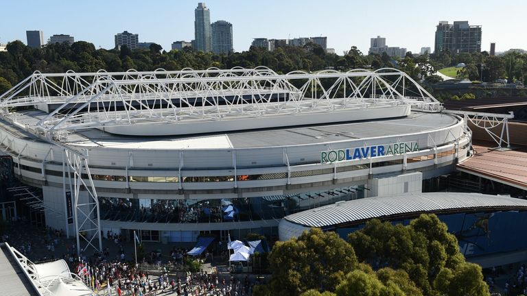 The Rod Laver Arena is the main showcourt at Melbourne Park