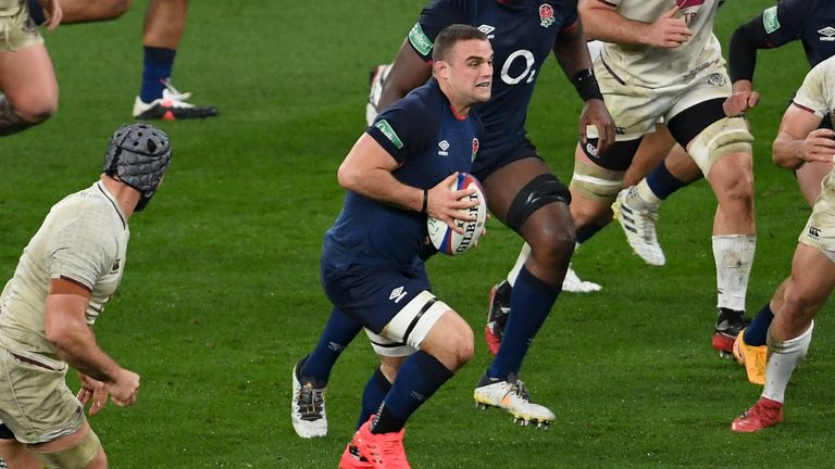 Ben Earl in action for England against Georgia