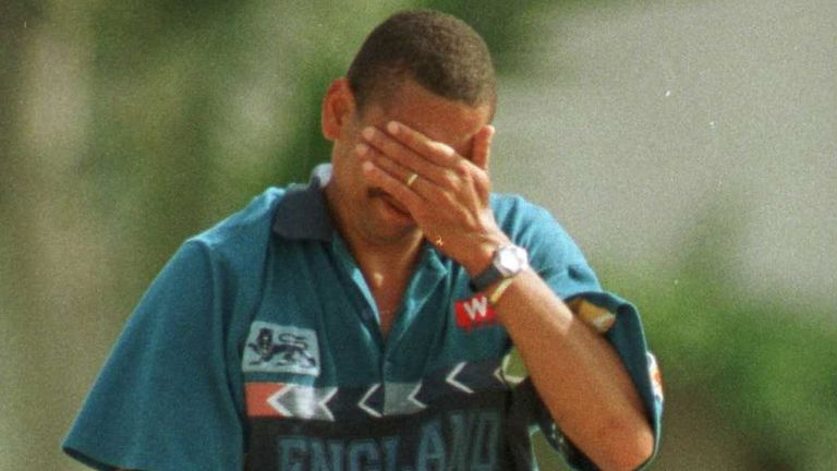 Phillip DeFreitas was pressed into service as an opening batsman during England's unsuccessful World Cup campaign of 1996