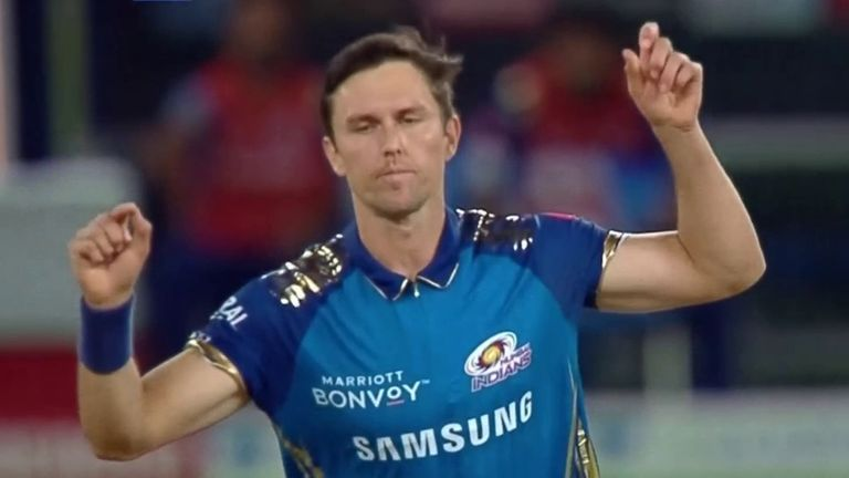 Trent Boult produced a terrific spell at the end to lead Mumbai Indians to their second win of the season
