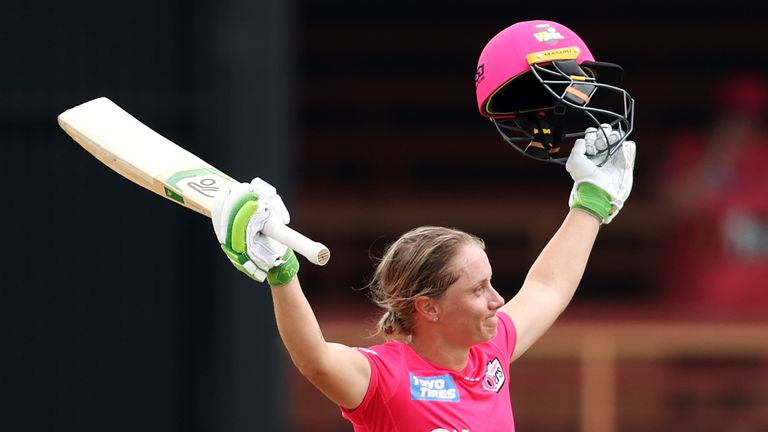Alyssa Healy hit the fourth fastest century in Women's Big Bash League history, but it was not enough to keep the Sydney Sixers in the tournament