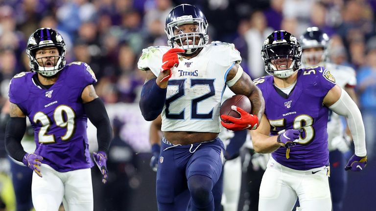 Derrick Henry ran all over the Ravens in a shock Tennessee playoff win last season